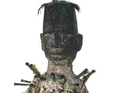 African Nkondi sculpture