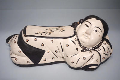 Chinese Head Pillow - Flowered