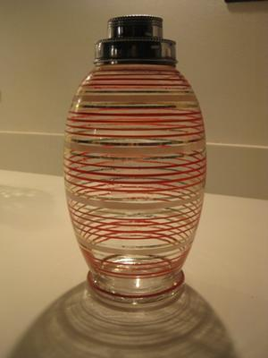 Glass cocktail shaker; 2011.3