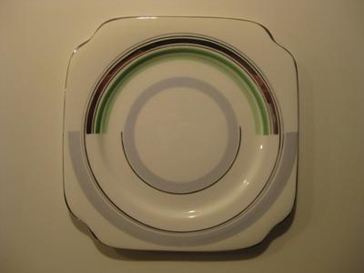 White plate with detail