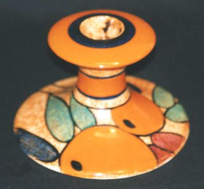 Clarice Cliff Candlestick; 1999.43