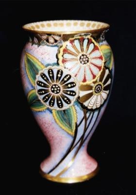 Carlton Ware Flowered Vase; 1999.44