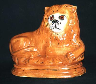 Victorian Ceramic Lion