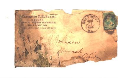 Letter from Sir Robert Johnston to Bernard Smith