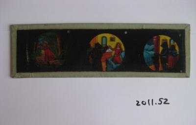 Coloured glass slide of Goldilocks