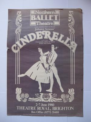 Event poster for a Northern Ballet production of Cinderella.