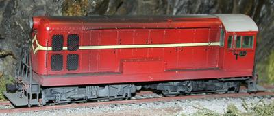 Model diesel electric locomotive of NZR De503