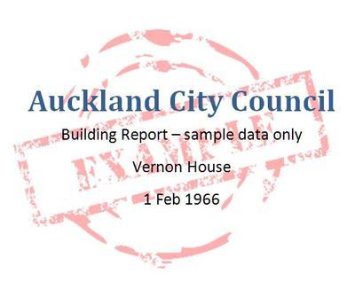 Auckland City Council Building Report: Vernon House, 1966