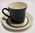 Black and white Crown Lynn cup & saucer