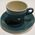 Teal Crown Lynn cup and saucer