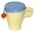 Blue and cream Bourn-vita cup © with lid
